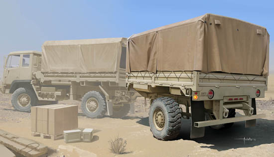 Trumpeter MODEL 1/35 01010 M1082 LMTV Trailer Plastic Model Kit
