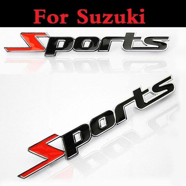 Sport 3D Chrome métal Autocollant De Voiture Emblème Badge Sticker Auto Pour Suzuki Aerio Baleno Celerio Cervo Escudo Forenza Grand Vitara