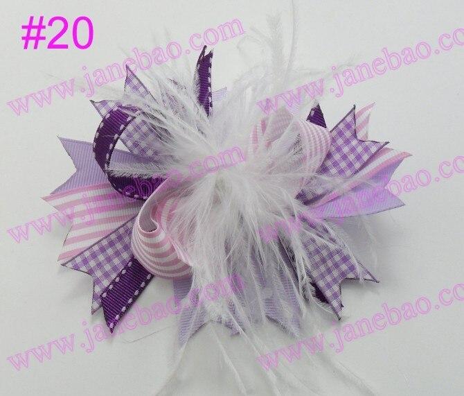 30 шт новейший 4,5 ''перо волосы банты модный бутик девушка бутик бант волосы популярный заколки для волос