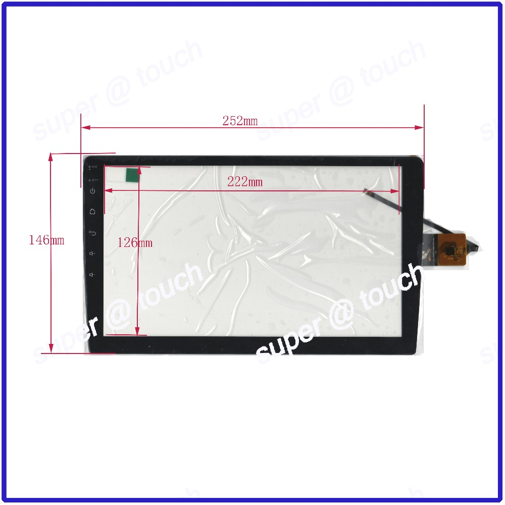 ZhiYuSun NEW 10.4inch 6 wire capacitive XC PG900 058 FPC A4 Touch Screen 252*146 touch screen FREE SHIPPING 252mm*146mm