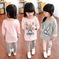 Girl Tracksuit Autumn Fashion Children Clothing sets Cartoon rabbit Long Sleeve Shirt + trousers 2 3 4 5 6 7 8 9 10 11 12 years