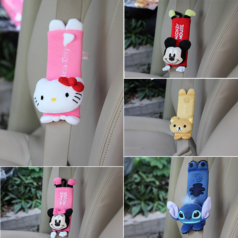 Cute Cartoon Car Safety Seat Belt Cover Shoulder Pad For Children