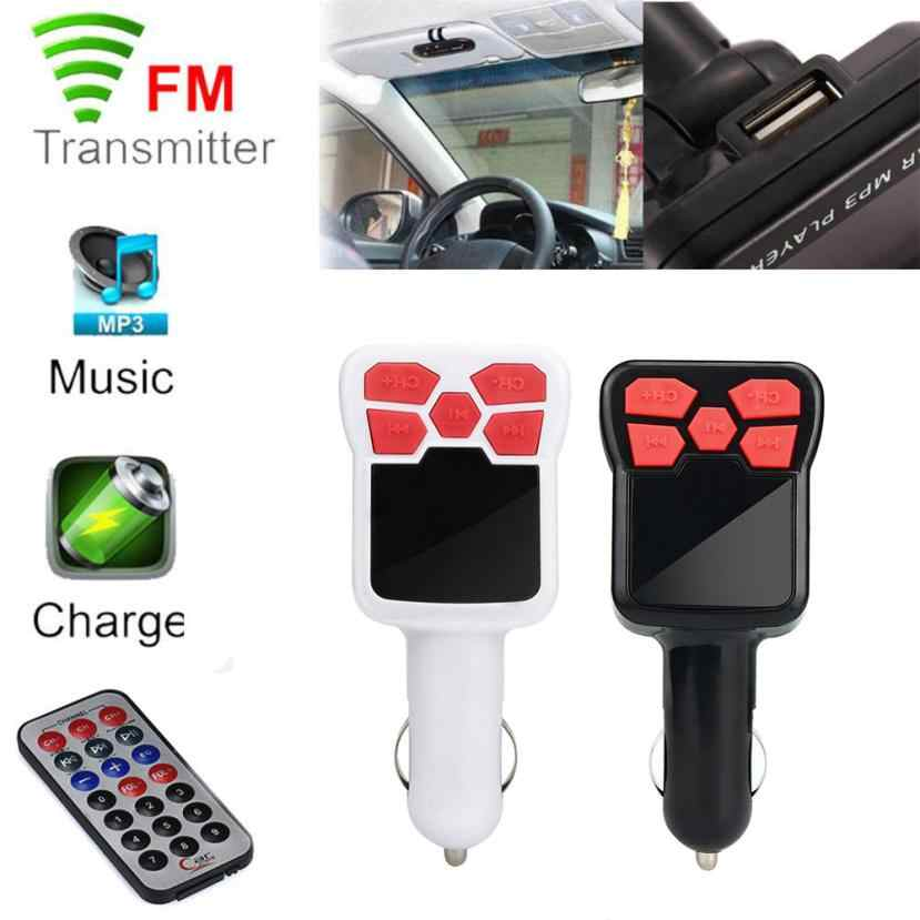 2018 Fashion Car Charger LCD Car MP3 MP4 Player Wireless FM Transmitter Modulator SD/ MMC Card w/ Remote Supported SD Card