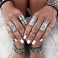 2016 New Fashion Vintage Tibetan Silver Rings Carved Totem Bohemian Finger Ring Wholesale Jewelry 5R008