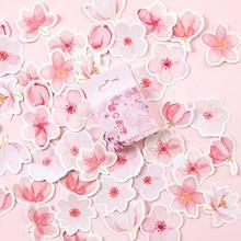 45PCS/PACK Kawaii Cute Sakura Flower Sticker Marker Planner Diary School Stationery Stickers Scrapbooking Bullet Journal sl1998