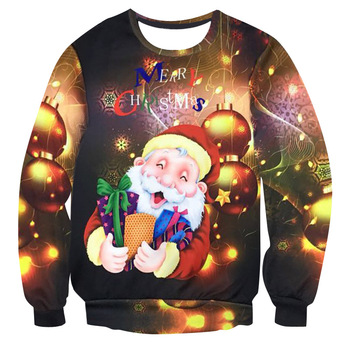 2019 Printing Men Women 3D UGLY CHRISTMAS SWEATER Vacation Santa Elf Funny Womens Men Sweaters Tops Autumn Winter Clothing unisex men women ugly christmas sweater vacation santa elf funny christmas sweaters jumper autumn winter tops clothing