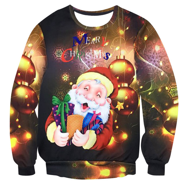 3d Printing Men Women 2018 Ugly Christmas Sweater Vacation Santa Elf