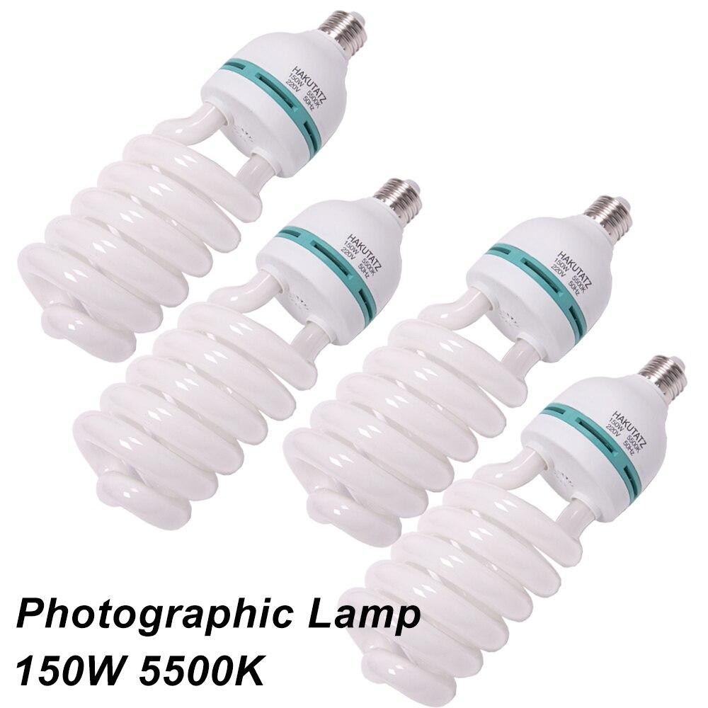 4pcs E27 5500K CFL Photography Lighting Video Bulb Daylight Balanced E27 5500k Energy Saving fluorescent Lamp