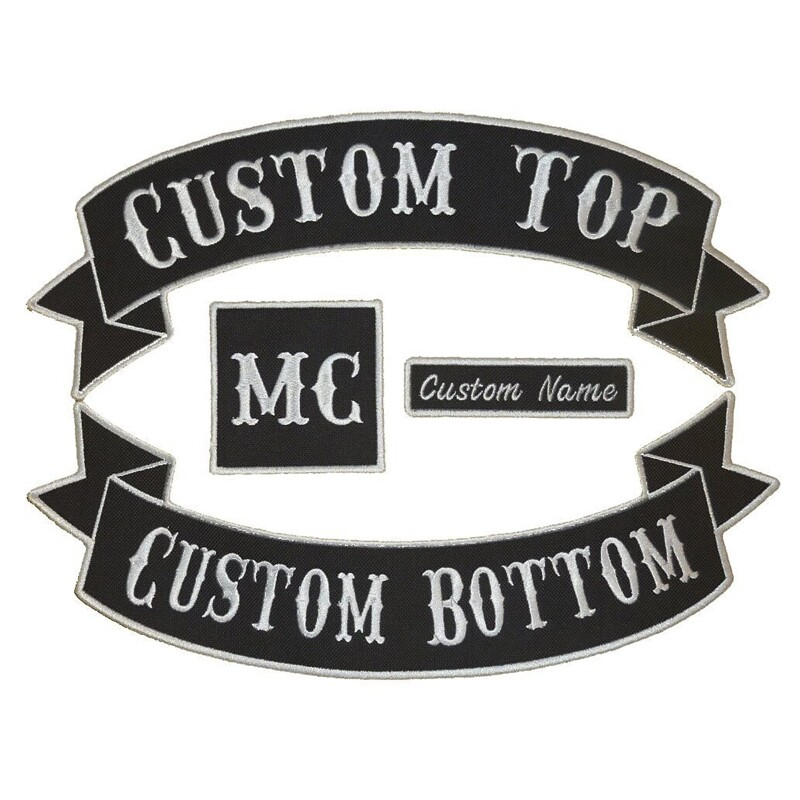 13wide Custom Jacket Back Embroidered Patch/Embroidery Motorcycle Patch/Biker Patch Iron on Any Garment Backing