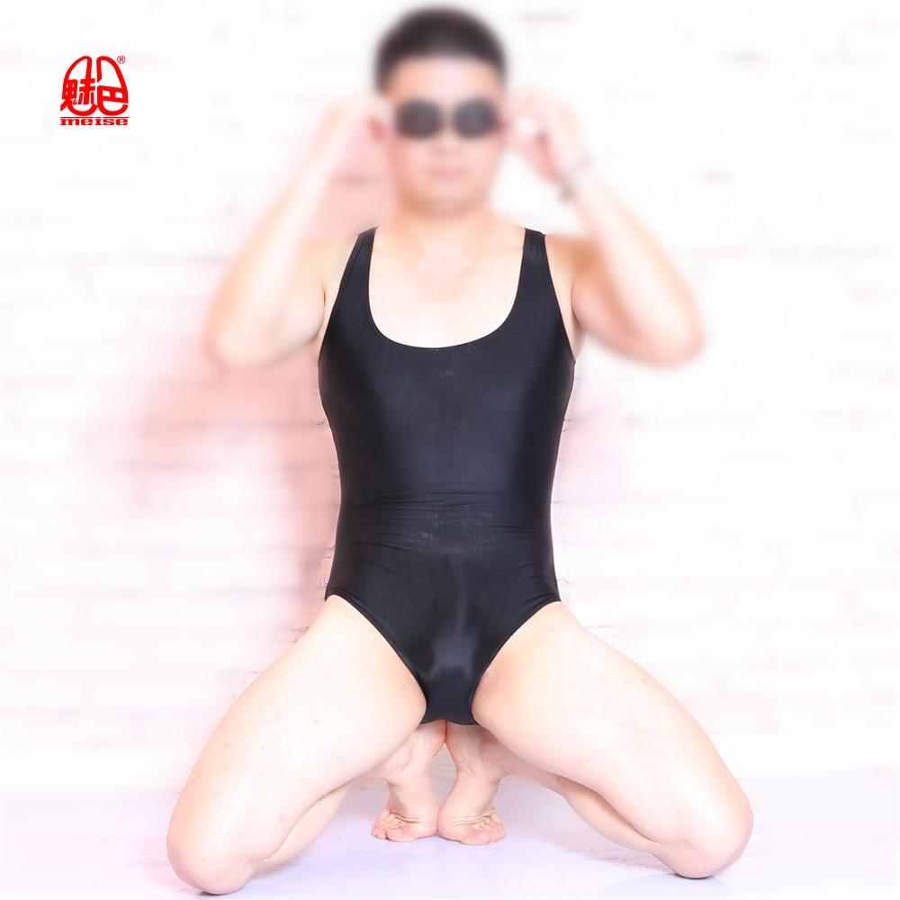 MEISE Bodysuit Men Lycra Corset High Elasticity One-piece Clothing Shapers Slim Corrective Body sculpting Pulling Underwear