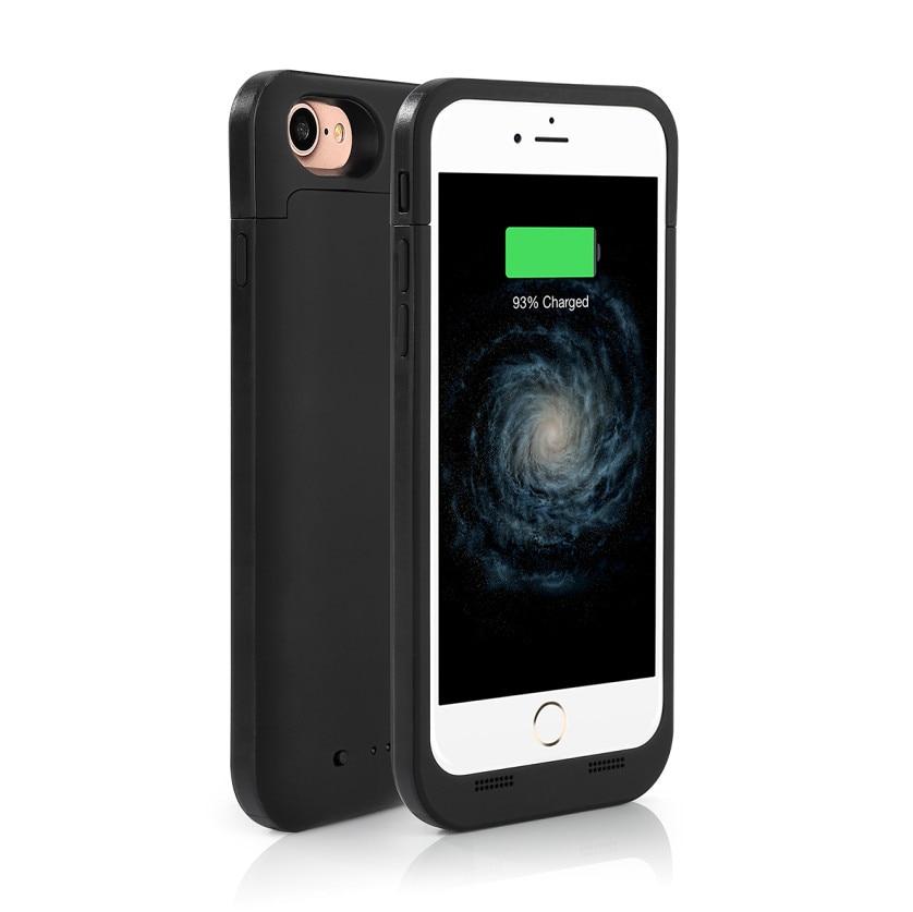 imágenes para Nueva 4500 mah banco de la energía caja de batería recargable extendido cubierta caso cargador de batería portátil para iphone 7 4.7 ''battery