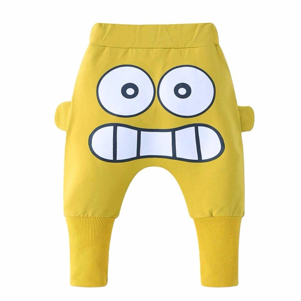 Funy Expression Baby Harem Pants Sport Loose Trousers Baby Boys Girls Fox Bottom Harem Pants Leggings Pants Trousers 0-24M