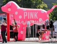 Наиболее популярные пятнистая гигантские надувные розовый собака экспортируется в США для продажи