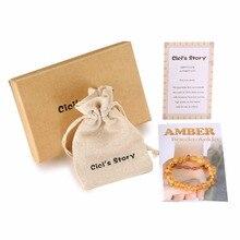 Raw Baltic Amber Teething Bracelet for Baby(Lemon Raw) – Gift Box – 2 Sizes – Lab Tested