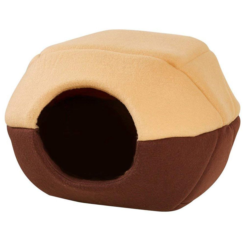 Practical Coral Fleece And Cotton Pet Bed Pet House Pet Bed Dog Cat Dome Pet House 2 Way Indoor Mat Attaches Khaki / Red / Blue