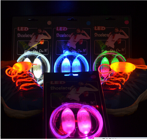 5 Set Cool Fashion Light up LED Shoelaces Flash Party Skating Glowing Shoe Laces for Boys Girls Fashion Luminous Shoe Strings
