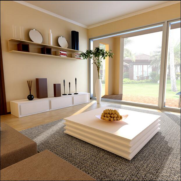 Square glass coffee table stylish minimalist modern paint creative personality living room coffee table TV cabinet combination furniture parlor marble combination wood adjustable tv cabinet coffee table