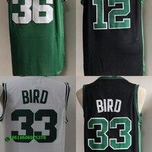 c3d1689de55 Men s High School Jersey Stitched Size S-XXL Free Shipping Larry Bird 33  Marcus Smart