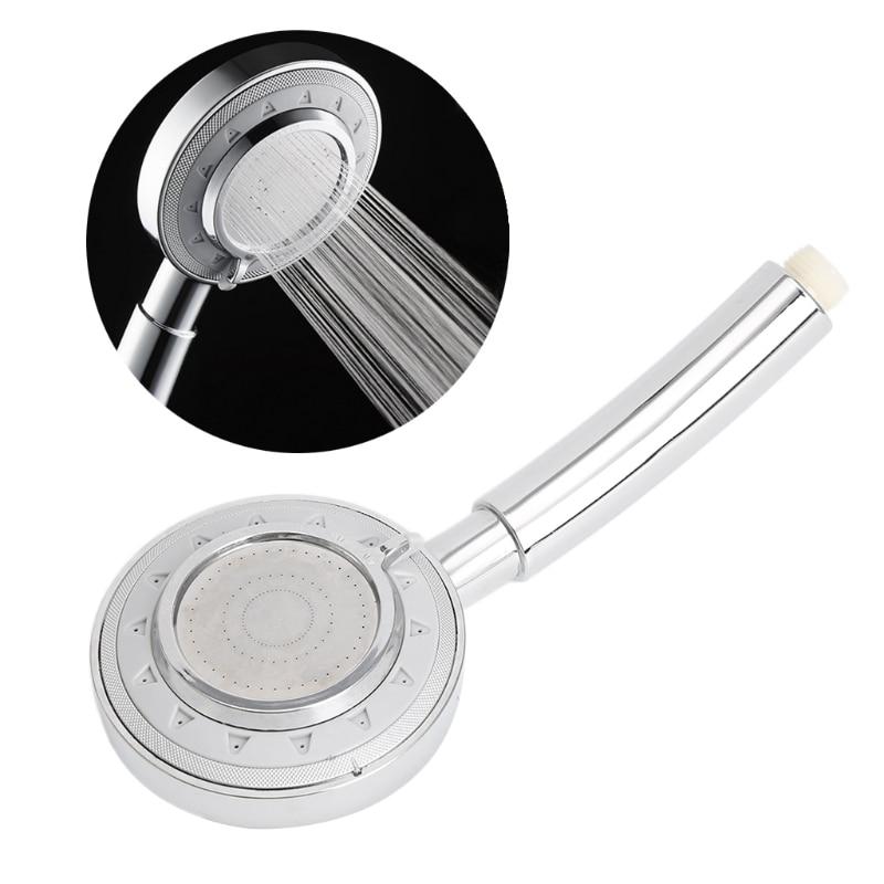 Bathroom SPA Silver Handheld Water-Saving Pressure Rain Shower Head Dls HOmeful