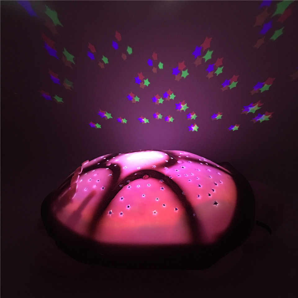 Dropship Cute D Turtle Baby Nightlight Projector Star Moon Build In Light Music Sleep Night Lamp