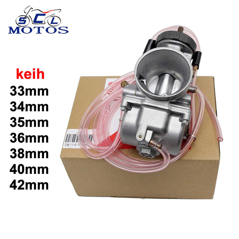 Sclmotos-moto KEIHI PWK carburateur 33,34, 35,36,38,40,42mm Air Striker pour 4T moteur Scooter UTV ATV vélo de saleté TRX250R