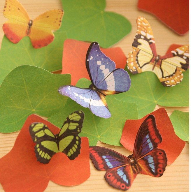 promotional gifts new arrival fashion cute simulate butterfly decorate Notepad . memo pads . sticky note . label . message post