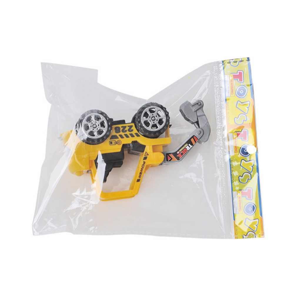 1: 72 Mainan Anak Kendaraan Inersia Truk Traktor Plastik Multifungsi Excavator Mainan Edukasi Mobil untuk Anak Laki-laki Hadiah 1 Pcs