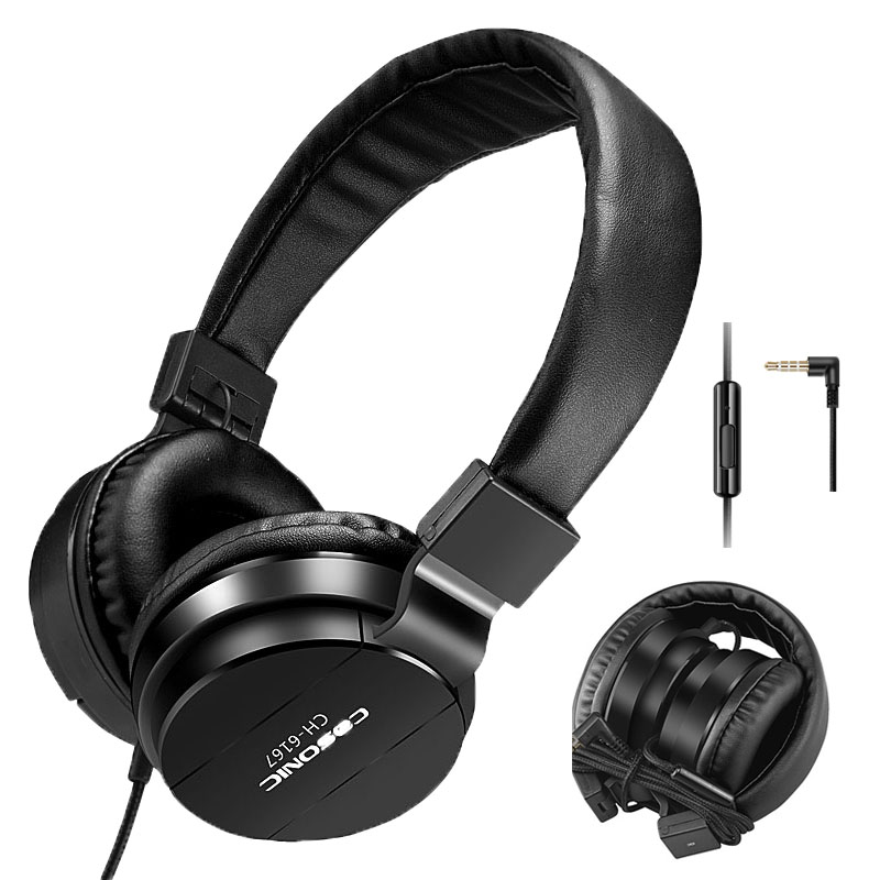 Brand Cosonic Mobile Phone Earphones & Headphones Foldable Gaming Headset with Microphone HIFI Music Lightweight Wired 6167