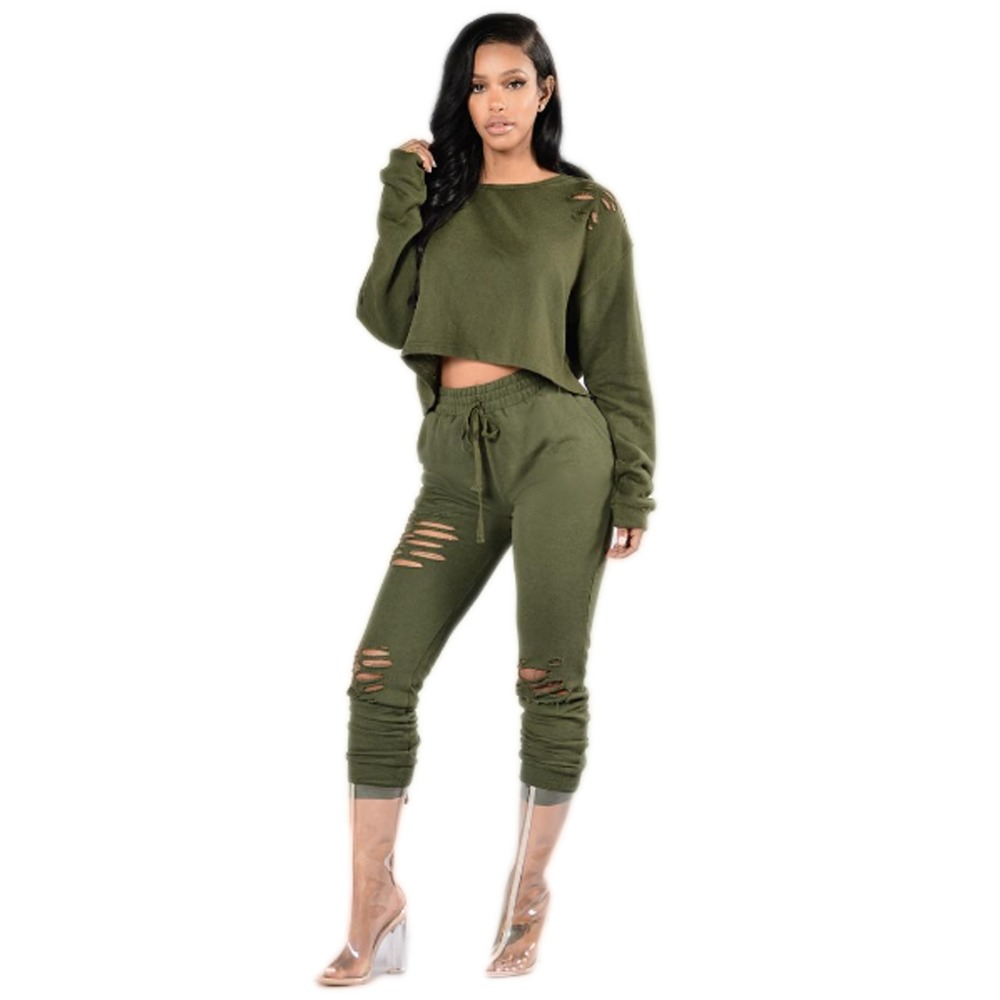 Plus Size Overalls Winter Women Long Sleeve Burning Flower Two Piece Jumpuit Casual Hollow Out Drawstring Ankle Length Bodysuit