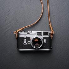 Mr.stone correia de câmera de couro genuíno, artesanal, correia para câmera de ombro (enrolamento)