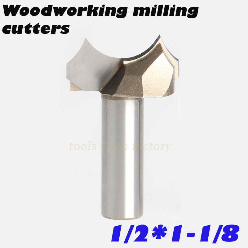 1pc 1/2*1-1/8 CNC woodworking carving tools milling cutter router bits for wood 1/2 SHK