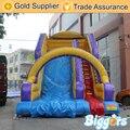 PVC Gigante Tobogán Inflable Comercial al aire libre, Diapositiva de salto Con Doble Carril Para La Venta