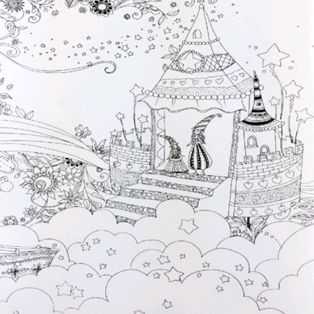 Fairy Tales And Magical Dreams Coloring Book Painting Mandalas Secret Garden Color Drawing Alice In Wonderland 2525cm 24pages