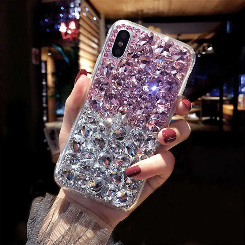 1Pcs For Moto P50 E6 Case Luxury Crystal Rhinestone Diamond Bling Clear Phone Case Cover For Motorola Moto One Vision P50 E6