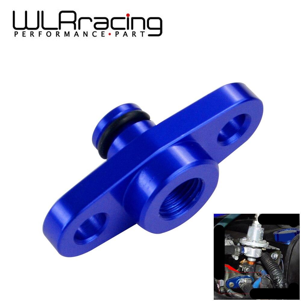 WLR RACING - 1/8 NPT Fuel Rail Pressure Regulator Adapter Blue For NISSAN TOYOTA SUBARU