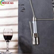 Матовый никель привело кран смесители опрыскиватель для кухни раковина кран заменить аксессуары