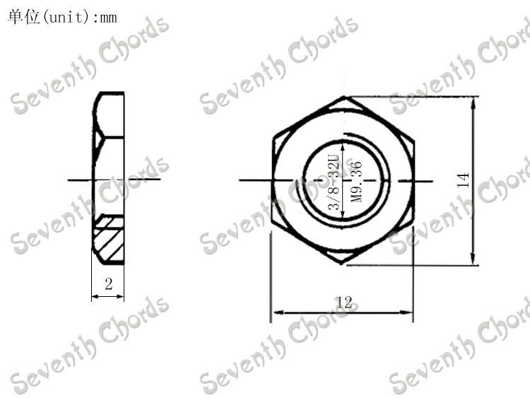 Gasket For Electric Bass Guitar