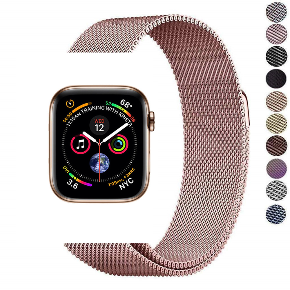 Milanese loop band accessories for apple watch 42mm 38mm iwatch series 4 3 2 1 44mm 40mm stainless steel bracelet watchband so buy for apple watch series 3 2 1 watchbands 38mm belt 42mm stainless steel bracelet milanese loop strap for iwatch metal band