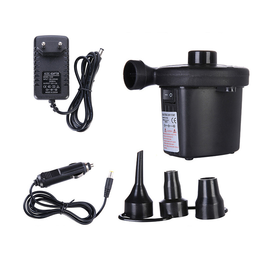 New EU Plug 220V Car Inflatable Pump 1PC High Quality Electric Air Pump 12V Boat Air Pumps Electric Blower Pumps 0117#30(China)