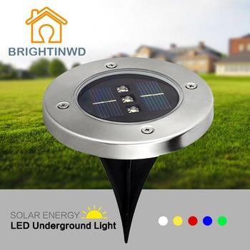 5PCS LED Lampe Solaire 3 LED Licht voor Tuin Gras Licht LED Solar Light Ondergrondse Solar Outdoor Verlichting