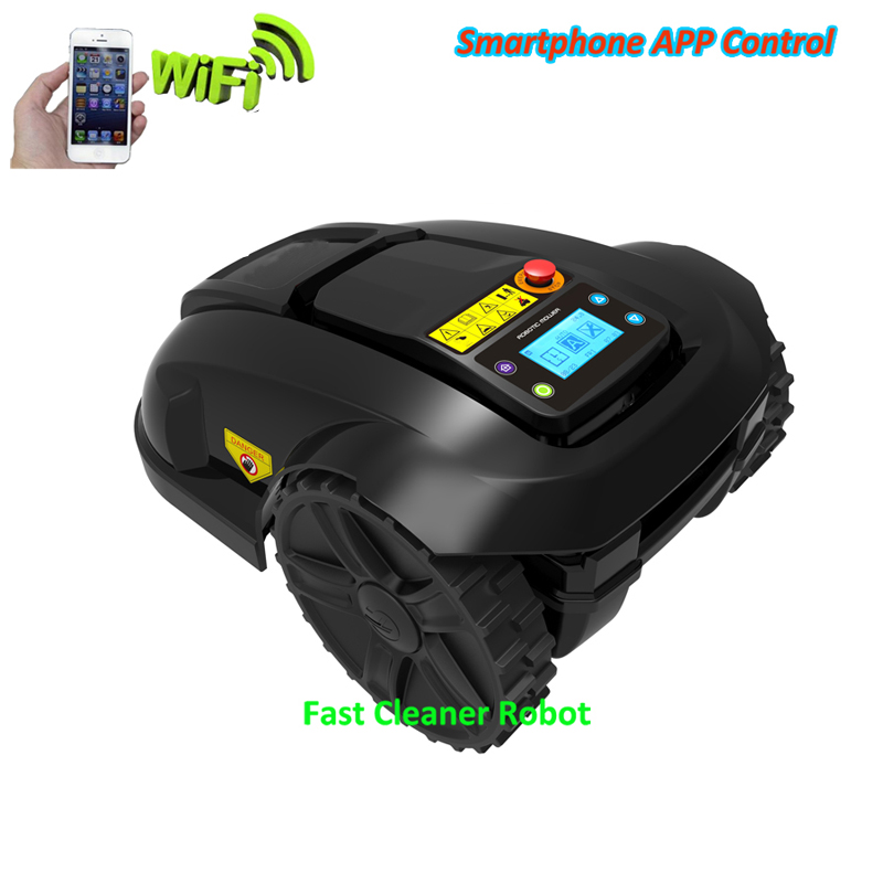 GYROSCOPE Function Mini Smart Lawn Mower Robot with Smartphone WIFI APP Function,Water-proofed charger,Subarea+Range Function newest wifi app smartphone wireless remote control lawn mower robot with water proofed charger range subarea compass functions