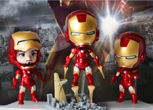 The Avengers 1set 5inch New Arrival The Avengers Q Iron Man 3pcs/set High Quality PVC Action Figure Toys Dolls Approximately