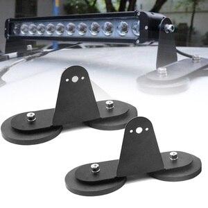 Image 1 - YAIT 2 stücke Magnetische Montage Halterungen Halter für Led Arbeit Licht Bar mit Starker Magnet Basis für Dach Traktoren Off straße