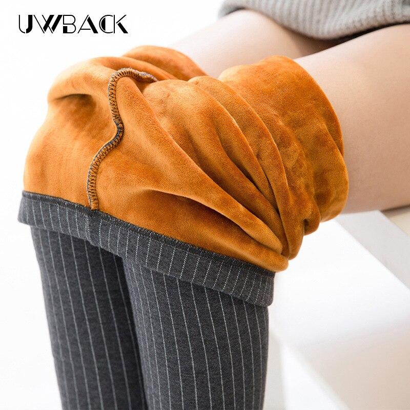 Uwback 2017 Nouveau Hiver Épais Leggings Femmes Coton Casual Outwear Avertir Pantalon Femmes de Velours Mince Legging Élastique CBB297
