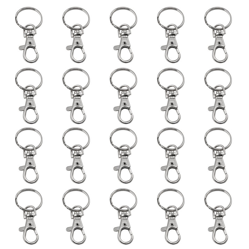 20 Small Removable Screw Caps For Key Rings - Carabiner Key Chain - Cosmetics & Jewelery                                      #8