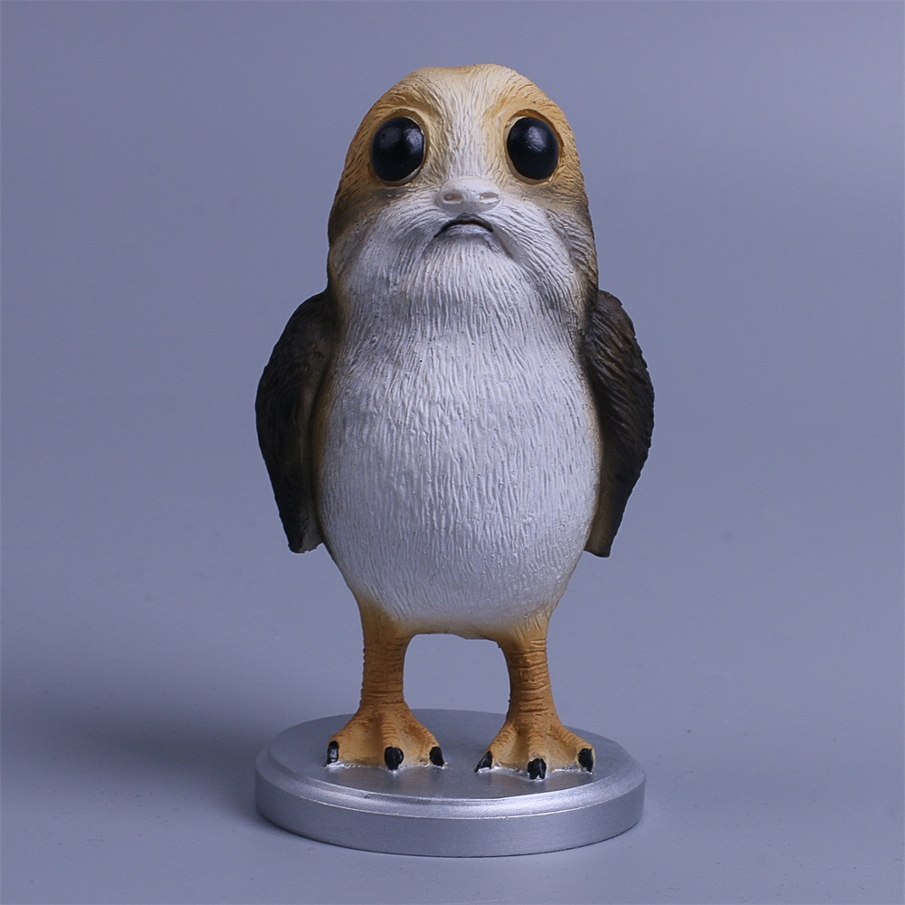 Star Wars The Last Jedi Porg Action Figure Cosplay Porg Toy Doll Christmas Gift Resin (4)