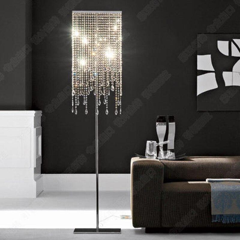 Floor Light Luxury Crystal European Lamp Led Standing Lighting Fitting Quality Fashion Living Room