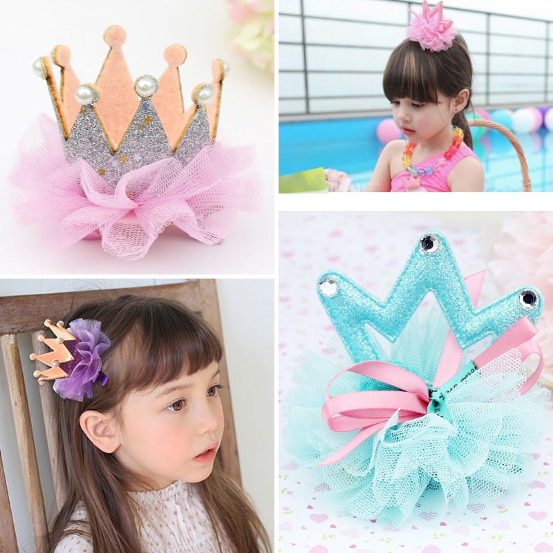 Fashion Children Headwear Elegant Crown Hair Clips Bands Hair Accessories Barrettes Headband Bandage For Cute Children halloween party zombie skull skeleton hand bone claw hairpin punk hair clip for women girl hair accessories headwear 1 pcs