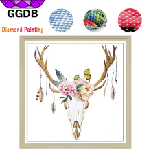 Здесь можно купить  GGDB 5D DIY Shiny Diamond Paintings Dream Catcher Embroidery Unicorn Crystal Square Diamond Flowers for Room Fortune Decoration