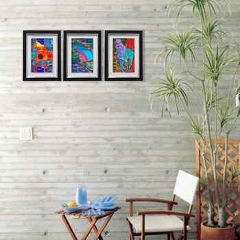 Giftgarden, conjunto de marcos de fotos negro de 4x6 pulgadas para decoración de pared, 3 unidades/conjunto de marco de portarretratos hecho a mano